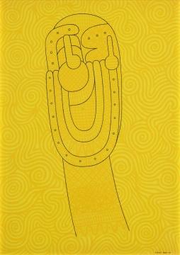 冈本信治郎 《大笑的梵高》 116.7×80.3cm 布面丙烯 1963-1997