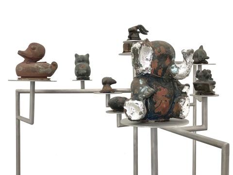 李景湖 《现在考古(东莞)No.3》 82×88×88cm 青铜、不锈钢 2016