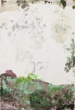 严善錞 《西湖· 富春#10》 175x121cm 布面亚克力、综合材料 2019