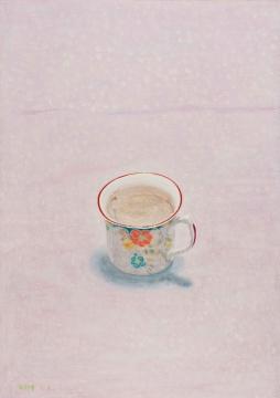 《我的咖啡杯 》42x29.7cm 木板丙烯 2019