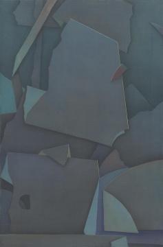 黄靖杰 《山石》 60×40cm 绢本设色2019