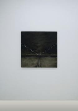 孟煌 《公路》 100×100cm布面油画