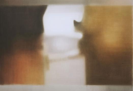 康海涛《记忆之洞 》102 x 156 cm纸板丙烯 2018