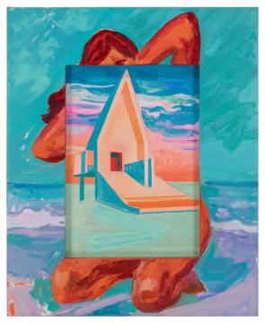 李青 《阿那亚》80×65×3.5cm 布面油画 2018-2021