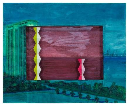 李青 《布朗库西公寓》 65×80×5cm 油彩、画布、木 2020