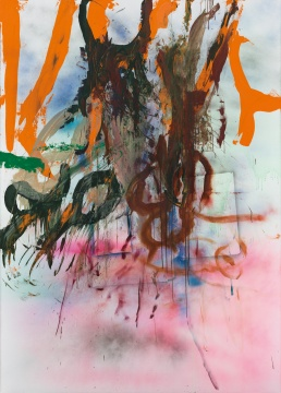 仇晓飞 《Tape Junk No. 3》 280×200cm 布上丙烯 2015 ©艺术家和佩斯画廊