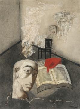 张晓刚 《深渊集系列》53×39cm 布面油画 1990 ©艺术家和灿艺术中心