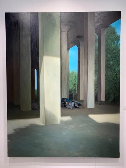 张英楠 《流浪》 230×180cm 布面油画2015,已售,4.5万美元