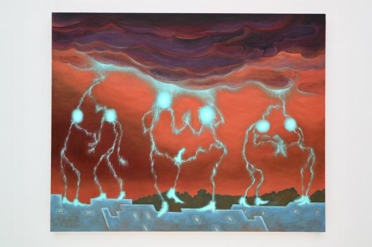 《霹雳舞》 120x150cm 布面油画 2021