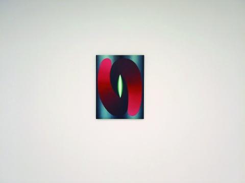 洛伊·霍洛韦尔 《红与蓝的相交》 71.1×53.3cm 布面油画 2015