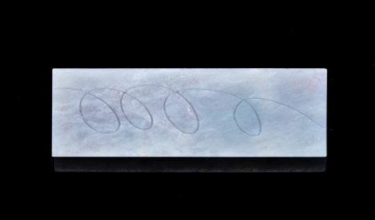 《幸运轨迹》翡翠 9.8x3.7x0.4cm 62.6g 2020