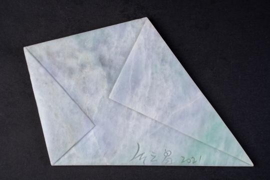 《优雅的房客》 翡翠 10.3x15.2x0.4cm130g 2021