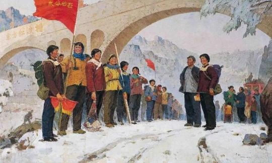 转战太行 150cm×250cm 1977 亚麻布油画 马常利 广州华艺廊藏