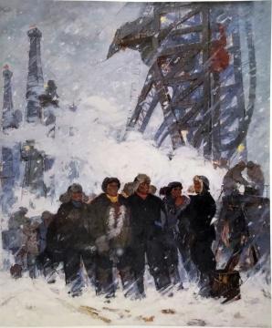 大庆人 230cmX190cm 1965 亚麻布油画 马常利 中国美术馆藏