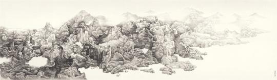 刘丹 《湘图》 145x500cm 纸本水墨 2014