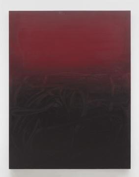 杨黎明 《暗红色书写系列》 280×215cm 布面油画 2020