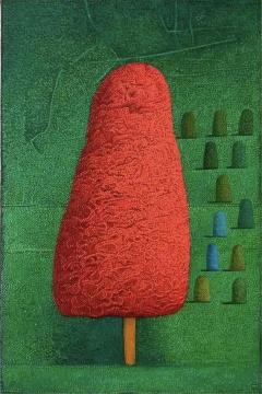 张弓 《12块石头1》 30×20cm 布面油画 2021