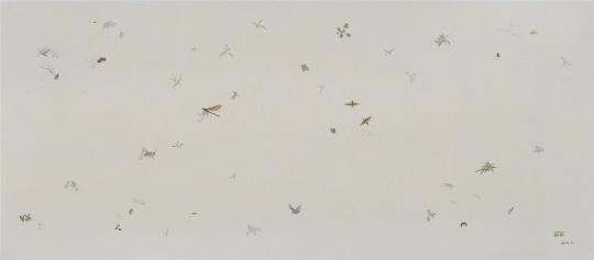 吴笛笛 《没有杂草NO.7》 170×75cm 布面油画 2014
